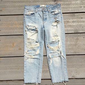 Garage Boyfriend Ripped Distressed Jeans